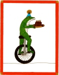 Unicycle Birthday Frog